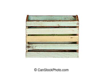 Vintage wood box isolated