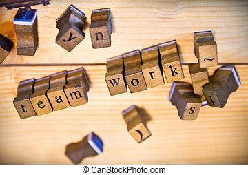 vintage wood letterpress types