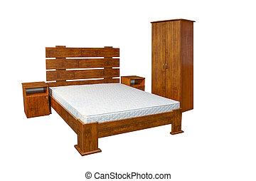 vintage wooden bed