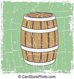 Vintage Wooden Beer Barrel