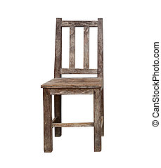 Vintage wooden chair isolated on white background