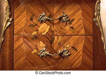 Vintage wooden combo or nightstand