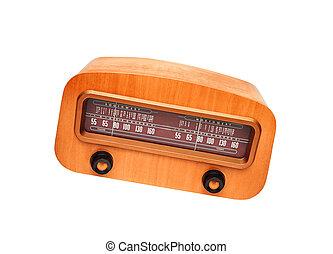 Vintage wooden fashioned radio