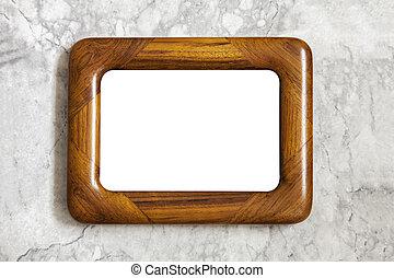 Vintage wooden frame mockup