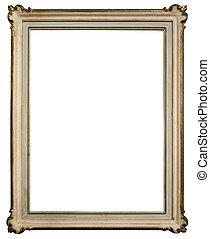 Vintage wooden frame - Vintage frame isolated on white...