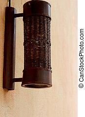 Vintage wooden lanterns.