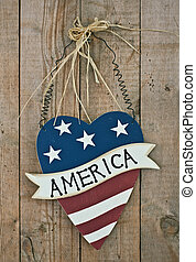 vintage wooden patriotic decor