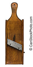 vintage wooden shredder