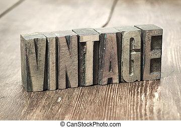 vintage word wood