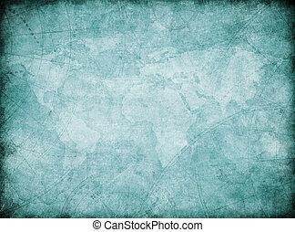 vintage world map background stylization