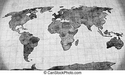 Vintage world map vintage world map vector illustration stock vintage world map gumiabroncs Image collections