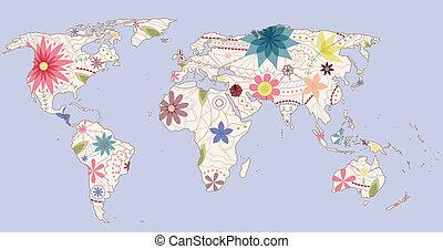 Vintage world map - vector vintage world map eps 10