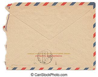 Vintage worn envelope