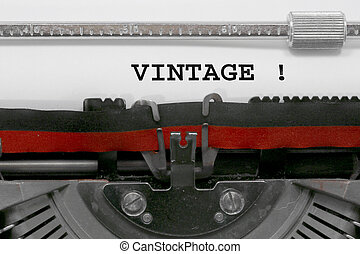 VINTAGE written by the typewriter