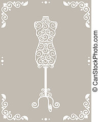 iron mannequin - Vintage wrought iron mannequin in floral...