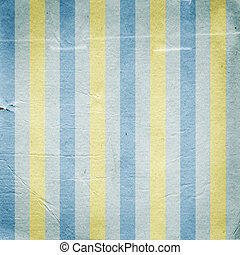 Vintage yellow blue striped paper background