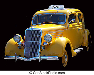 Vintage Yellow Cab - a vintage taxi