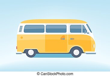 Vintage yellow minibus [Converted]