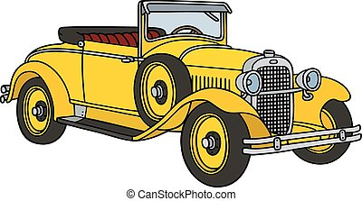 Vintage yellow roadster