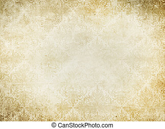 Vintage yellowed paper background.