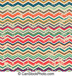 vintage zigzag seamless pattern with grunge effect