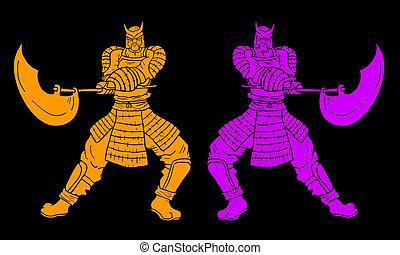 Vintages samurais - Creative design of samur?is vintages