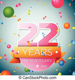 vinte, aniversário, anos, experiência., dois, fita, celebração
