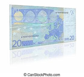 vinte, nota, euro