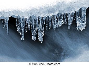 vinter, bäck