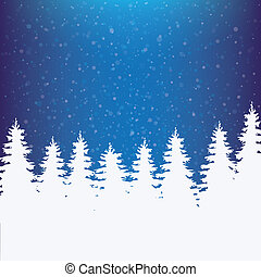 vinter, bakgrund, snöig