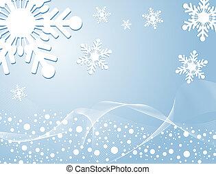 vinter, bakgrund