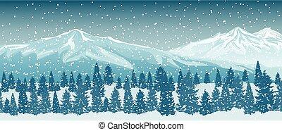vinter, bjerge