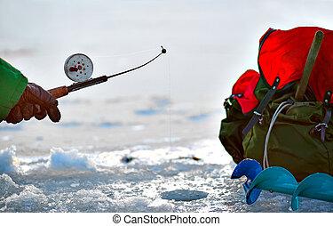 vinter, fiske