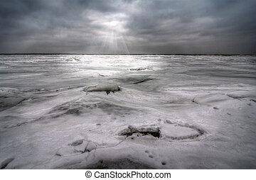 vinter, insjö erie