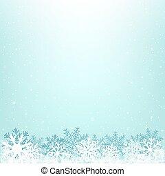 vinter, jul, bakgrund, snöig