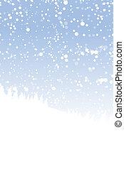 vinter landskap, för, din, design