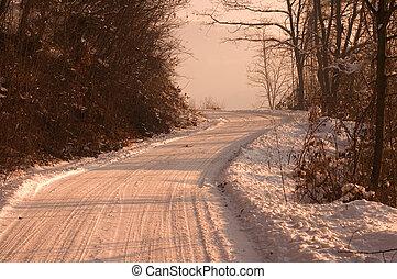 vinter, morgon