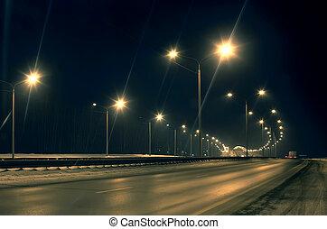vinter, motorväg