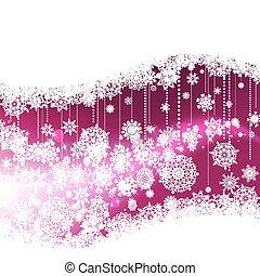 vinter, purpurfärgad fond