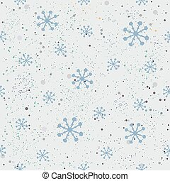 vinter, seamless, bakgrund, snöig
