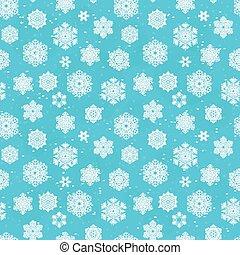 vinter, seamless, blå, mönster