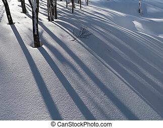 vinter, snö, backgrou