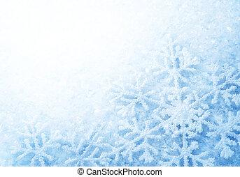 vinter, snö, bakgrund., snöflingor