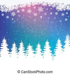 vinter, snöig, bakgrund