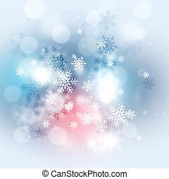 vinter, sne, jul