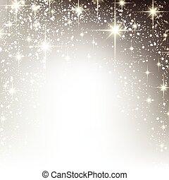 vinter, starry, jul, bakgrund.