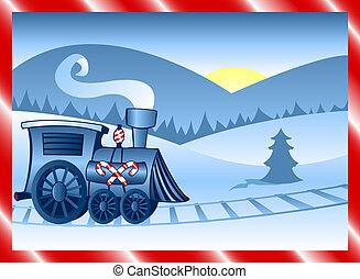 vinter, tåg