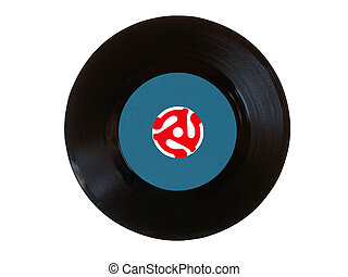 Vinyl 45 rpm disk