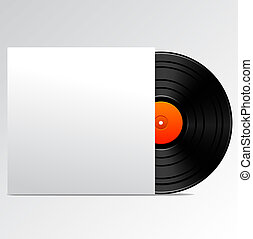 Vinyl disk with blank cover
