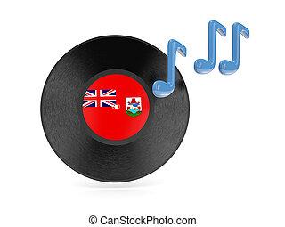 Vinyl disk with flag of bermuda